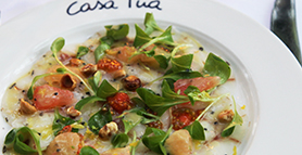 Branzino carpaccio - Tequila Pairings