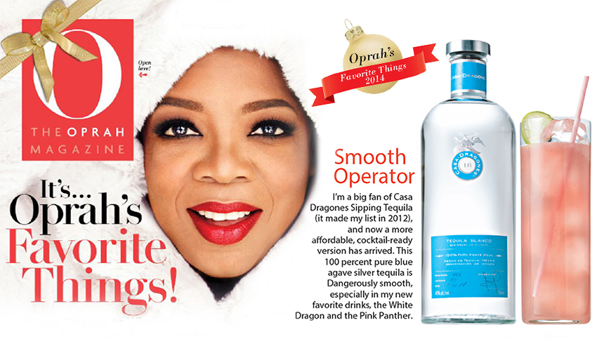 Oprah's favorite things 2014: tequila Casa Dragones