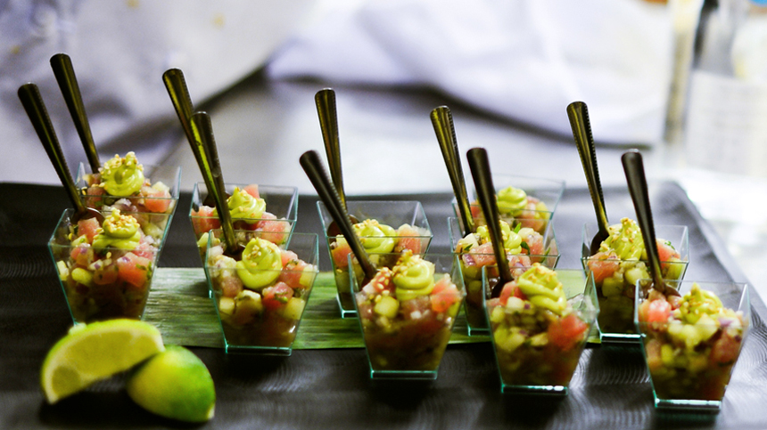 Chilled Shrimp Ceviche with Avocado Mousse