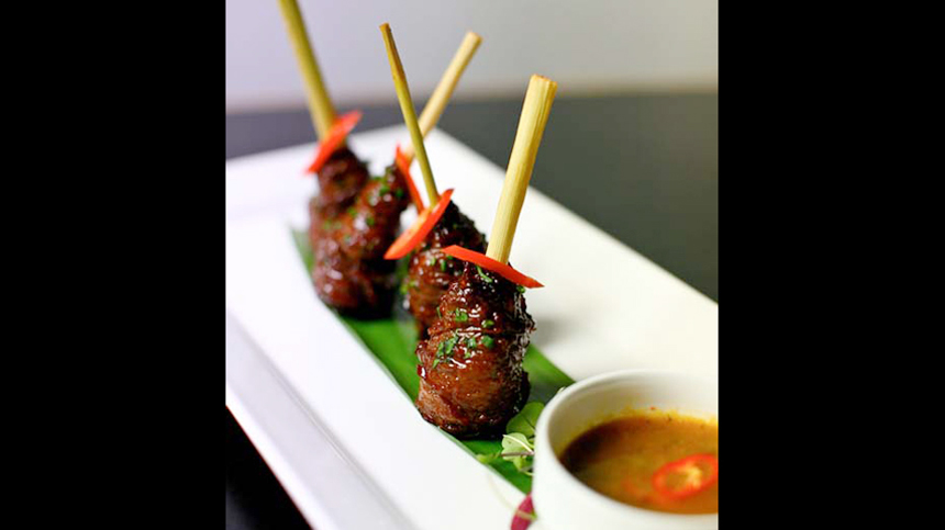 Tequila food pairings: Lemongrass Beef Lollipops
