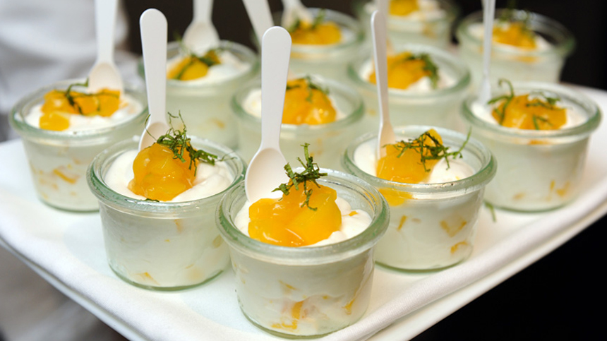 Mango semifreddo - food pairing with tequila