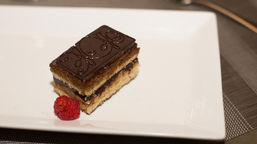 Tequila food pairings: Opera Cake
