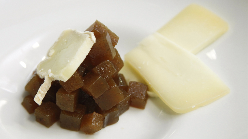 Tequila pairings: Quince jelly from Morelia with Cotija Cheese