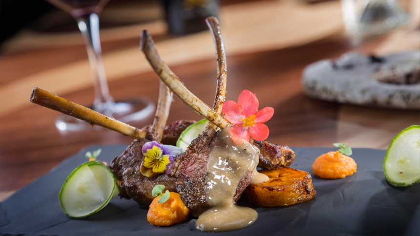 tequila food pairings: rack of lamb