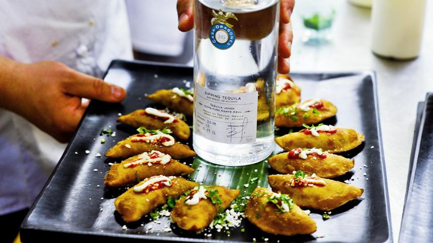 Short Rib and Zucchini Empanadas - Tequila Drink Pairing
