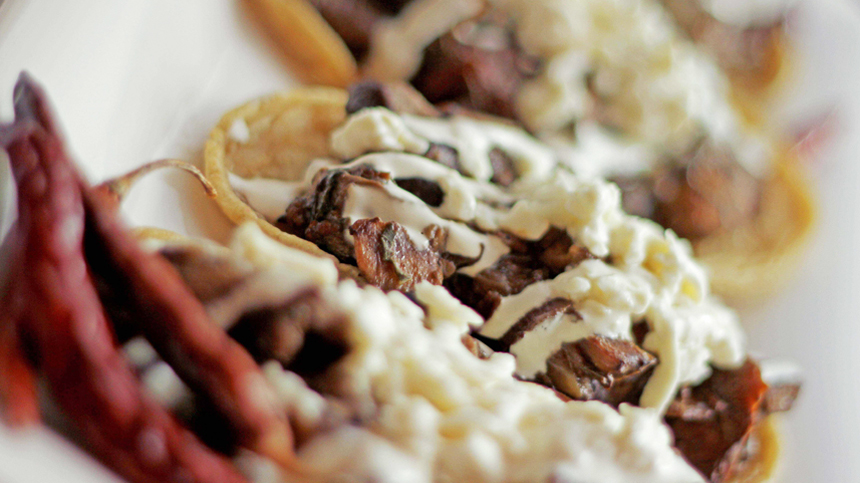 Tequila food Pairings: Wild Mushrooms Sopes