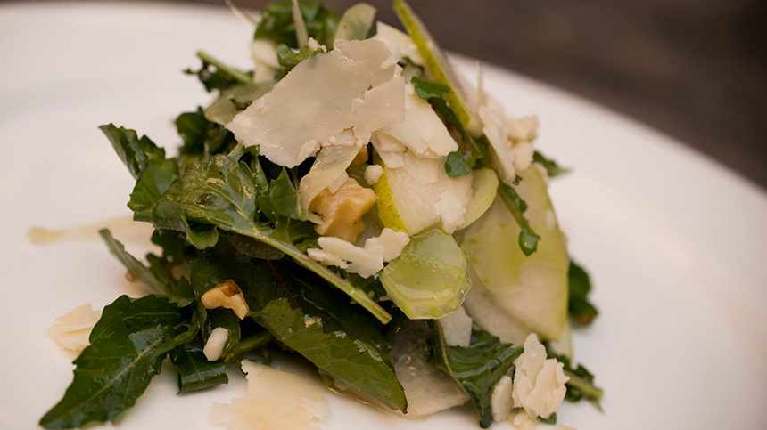 Tequila food pairings: arugula fennel pear salad