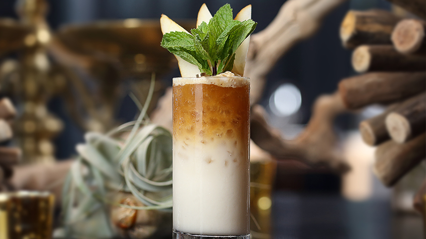 Double Dragon, an original tequila cocktail created by Andrew Maurer for Tequila Casa Dragones