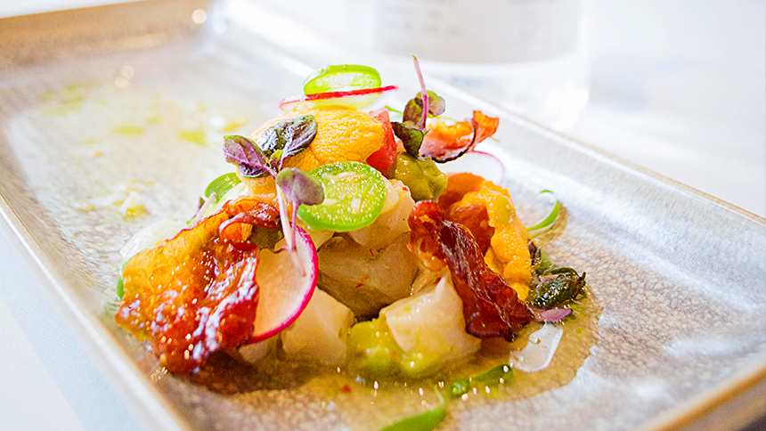 Casa Dragones_Pairing_Hokkaido Scallop and Uni Ceviche