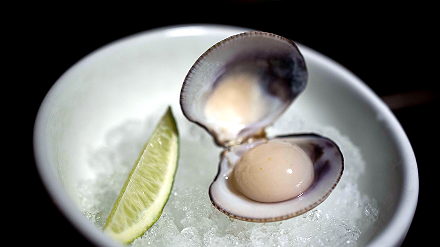 Casa Dragones_pairings_chef-pual-bentley-guanabana-mollusk