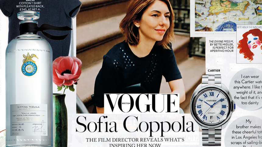 Sofia Coppola features Tequila Casa Dragones in British Vogue