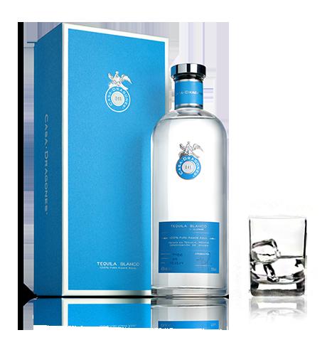 Premium Tequila Blanco In A Glass