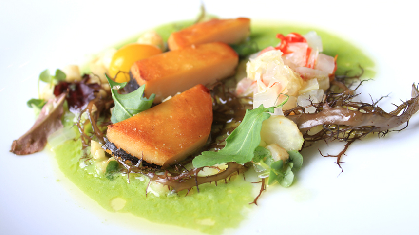 pairing_Abalone with Tomatillo Juice