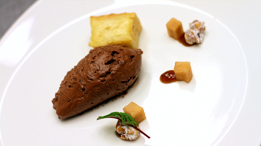 Mousse de Chocolate Valrhona