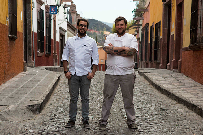 Los Chefs Jesús Escalera y Paul Bentley en La Casa Dragones